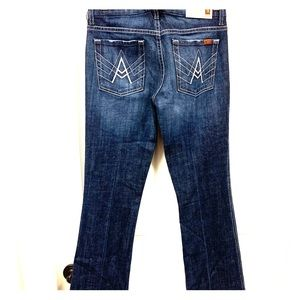 NEW 7 For All Mankind A Pocket Flare Leg Jeans